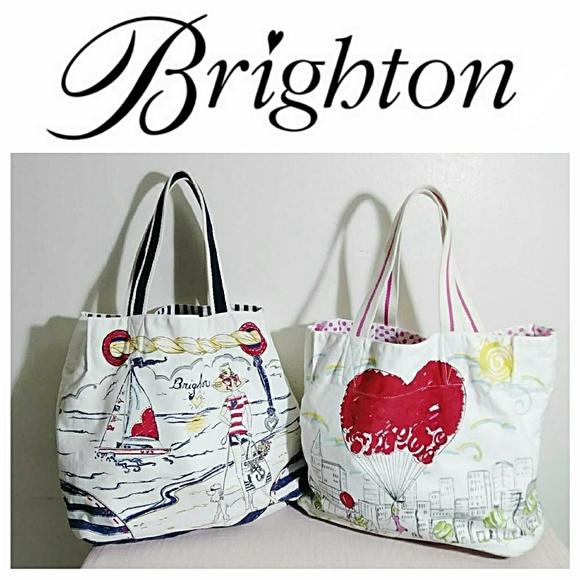 5363ff73ac63 Brighton Handbags - (2) Brighton Canvas Tote Bundle
